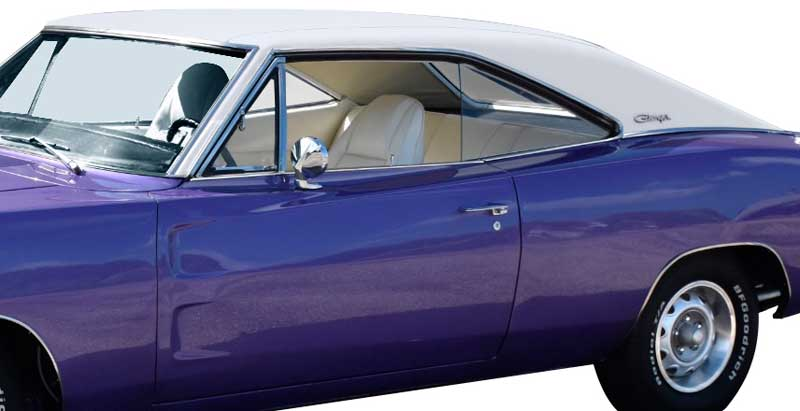 1970 Dodge Charger Parts | MB2284 | 1970 Dodge Charger 37-1/2 White Boar  Grain Vinyl Top | Classic Industries
