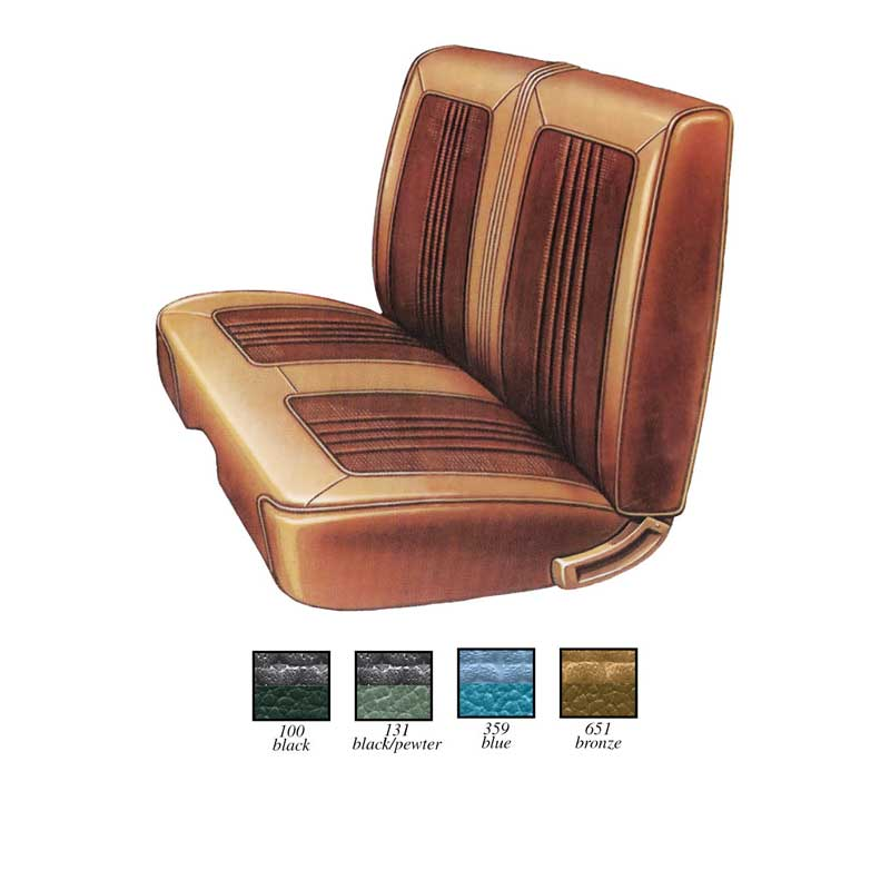 1969 Plymouth Roadrunner Parts Interior Soft Goods Seat Upholstery Classic Industries
