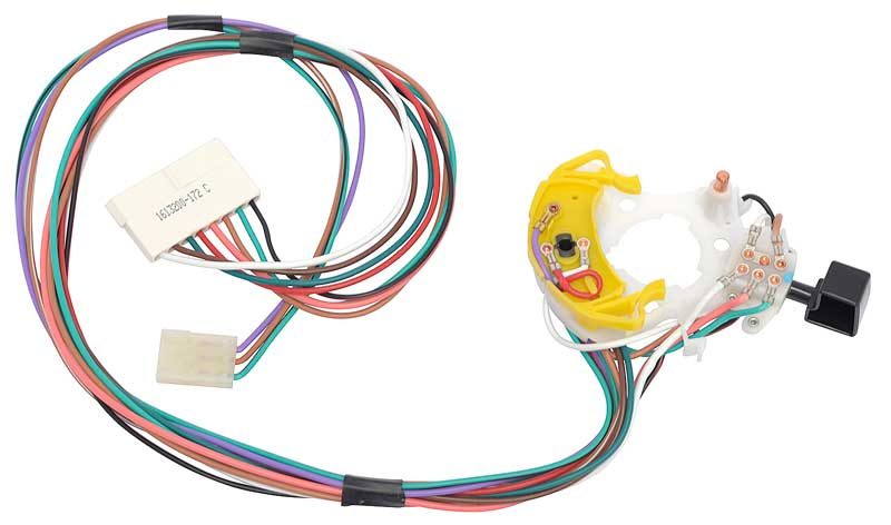 md2085 - 1970-82 mopar turn signal switch - without tilt & with cornering  lights - 11 wire switch