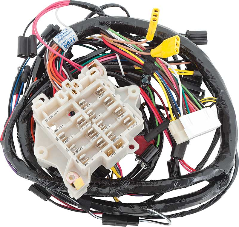 mopar e-body - barracuda parts | electrical and wiring ... under dash wiring harness 1970 impala
