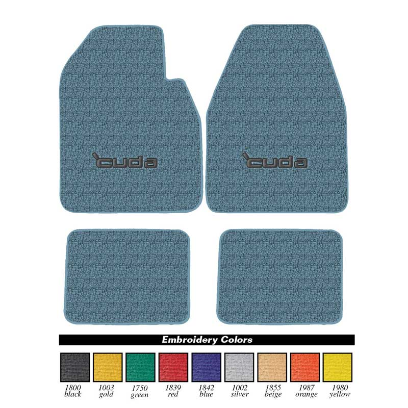 Avery Grand Touring Floor Mats w/ Embroidery