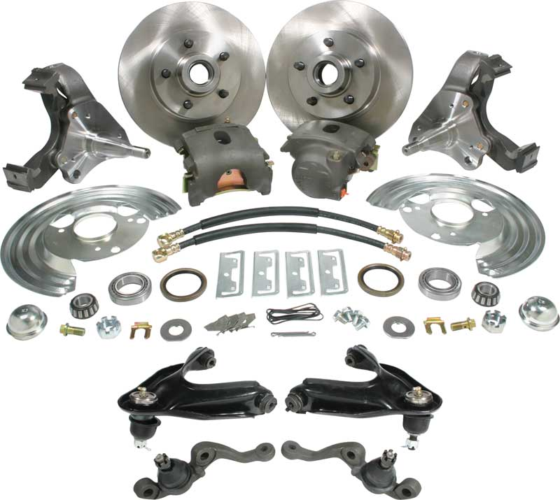 1963-1974 All Makes All Models Parts | MN5004 | 1963-74 Mopar A-Body Front  Drum to Disc Brake Conversion Set with Steel Upper Control Arms | Classic