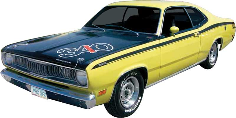 mopar a body duster parts emblems and decals stencils and stripes cla. Black Bedroom Furniture Sets. Home Design Ideas