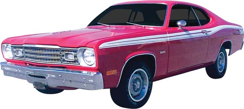 1973 1974 Plymouth Duster Upper Body Stripe Kit - No Numeral