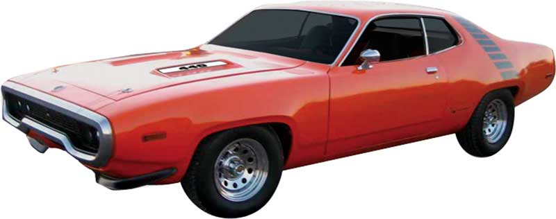 1972 Plymouth Road Runner GTX 340 400 440 AirGrabber COMPLETE Decals Stripes Kit