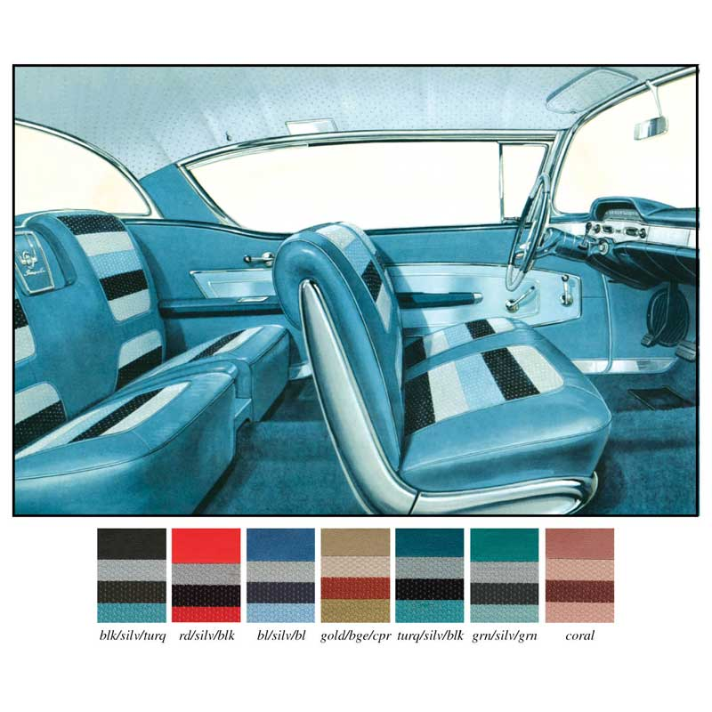 1958 chevrolet impala parts interior soft goods seat upholstery upholstery kits classic. Black Bedroom Furniture Sets. Home Design Ideas