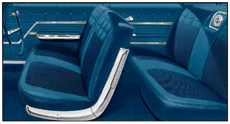 1962 All Makes All Models Parts P10062003 1962 Impala 2 Door Hardtop With Split Bench Blue