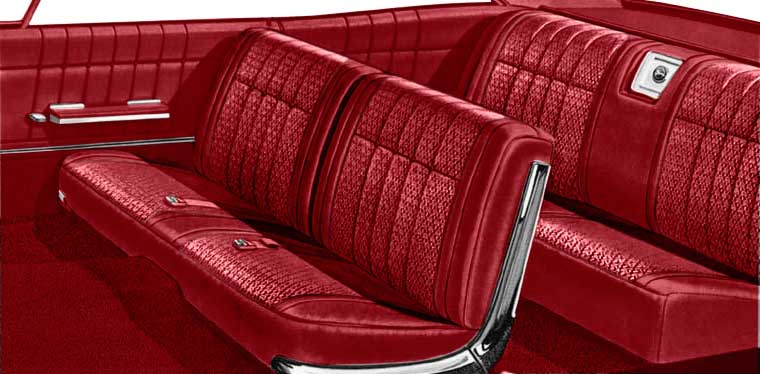1965 All Makes All Models Parts P10065102 1965 Impala Convertible With Front Split Bench Red