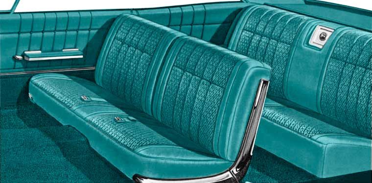 1965 All Makes All Models Parts   P10065131   1965 Impala Convertible With  Front Split Bench Aqua Vinyl Upholstery Set   Classic Industries