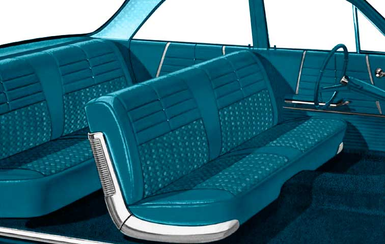 Pleasing 1964 Chevrolet Impala Parts P10464094 1964 Impala 4 Door Hardtop With Bench Seat Light Medium Aqua Cloth Aqua Vinyl Upholstery Set Classic Gmtry Best Dining Table And Chair Ideas Images Gmtryco