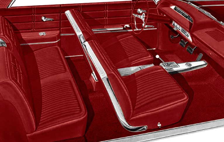 1963 All Makes All Models Parts P10763088 1963 Impala Ss Hardtop With Front Bucket Seats Red