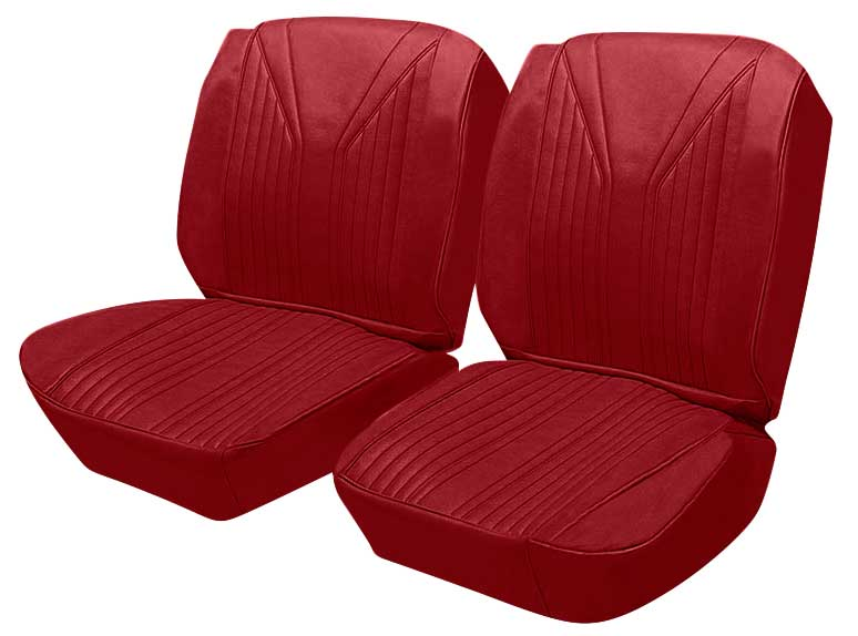 1965 Chevrolet Impala Parts   P10765002   1965 Impala SS 2 Door Hardtop  With Front Buckets Red Vinyl / Red Carpet Upholstery Set   Classic  Industries