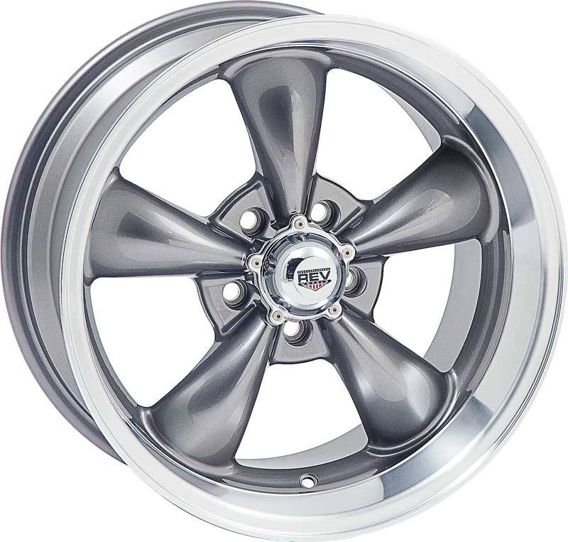 100 wheel with anthracite gray center and 5 x 4 1 2 quot bolt pattern