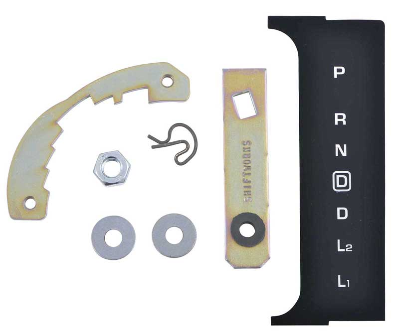 US-Made 1965 Impala BelAir Console Indicator Shift Plate 2 Piece New TrimParts