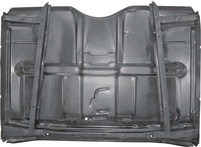 T70815 1967 72 Chevrolet Gmc Full Cab Floor Pan With Braces