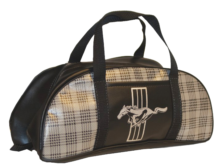 1964-1973 All Makes All Models Parts | TB7 | Small Mustang Trunk Tote Bag -  Plaid with Logo | Classic Industries