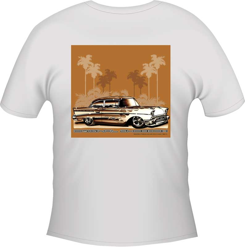 1955-1957 All Makes All Models Parts | TF2001L | Original Showbox T-shirt -  White - Large | Classic Industries