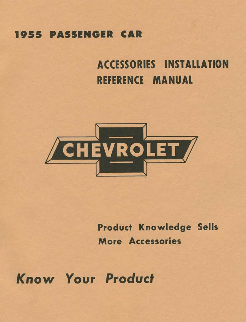 1955 Chevrolet All Models Parts Literature Multimedia Classic Body Wiring Diagram For Passenger Car Convertible Product Tf250016