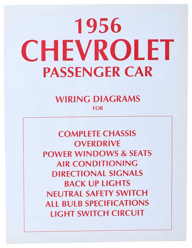 1956 All Makes All Models Parts | TF250025 | 1956 Chevrolet Black & Early T Wiring Diagram on