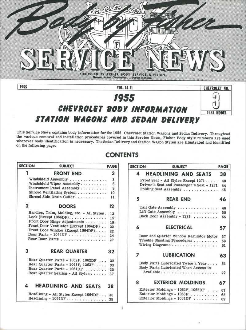 1955 Chevrolet All Models Parts Literature Multimedia Body Wiring Diagram For Passenger Car Convertible Product Tf250042
