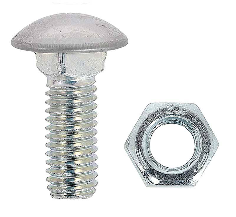 7//16 x 1 SHOW POLISHED STAINLESS CAP BUMPER BOLTS 2 pcs