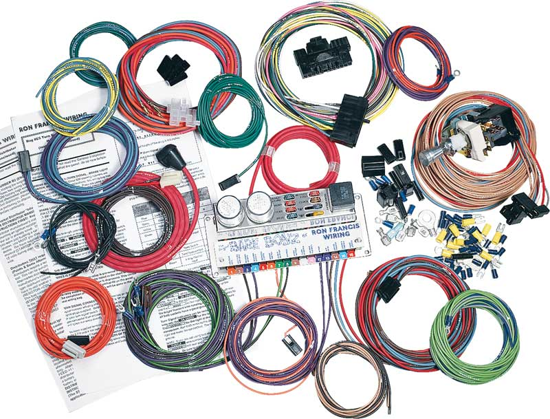 """1969 impala parts electrical and wiring wiring and connectors bare bonzâ""""¢ 8 fuse 10 circiut gm wiring set"""