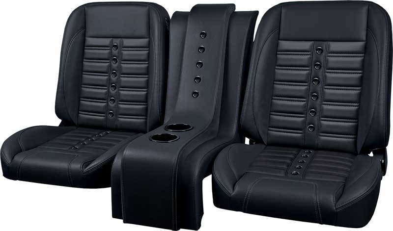 Bucket Seats For Chevy Truck >> 1947 1987 Chevrolet Truck Parts Tm5041101 Tmi Pro Classic Sport X Black Vinyl Black Grommets Black Stitching Low Back Bucket Seats Classic