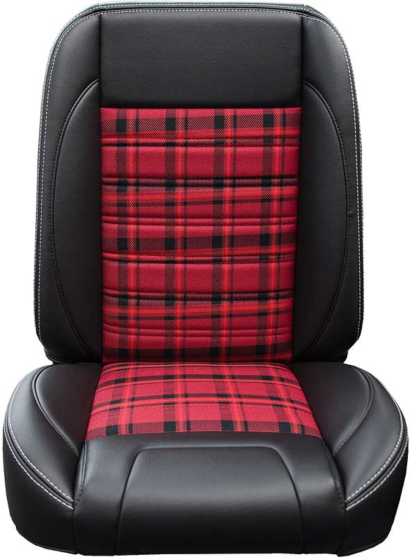 Bucket Seats For Chevy Truck >> 1947 1987 All Makes All Models Parts Tm84002 1947 87 Chevy Gmc Truck Tmi Pro Classic Bucket Seats With Black Red Plaid Classic Industries