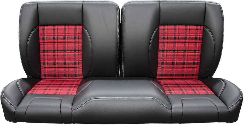 Groovy 1960 1987 All Makes All Models Parts Tm84202 1960 87 Chevy Gmc Truck Tmi Pro Classic Split Back 60 Bench Seat With Black Red Plaid Classic Machost Co Dining Chair Design Ideas Machostcouk