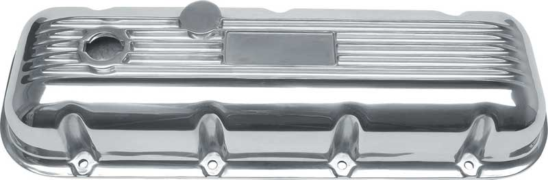 Finned Aluminum Engine Valve Covers w// PCV Breathers Big Block Chevy BB 427 454