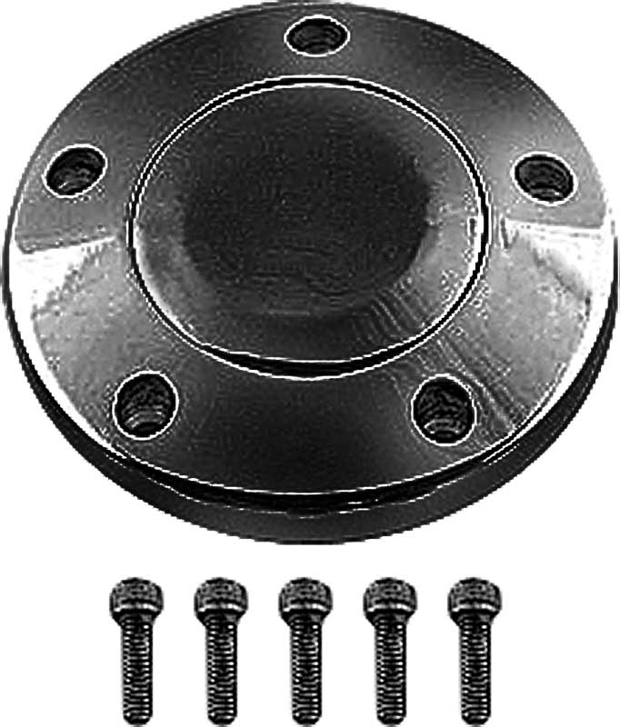 Blank smooth 5 hole polished billet horn button
