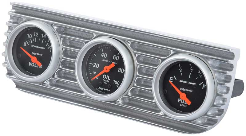 OTB Gear Aluminum Under Dash Gauge Panel; 3 Hole