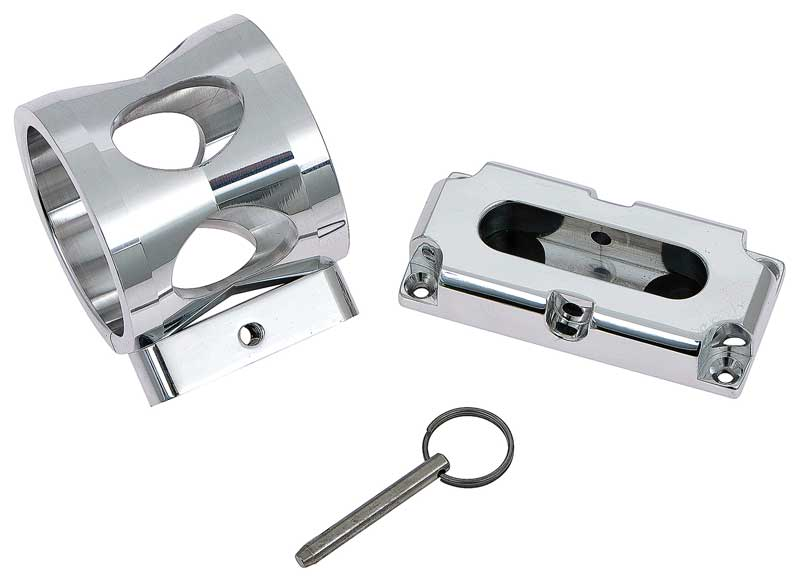 Billet Fire Extinguisher Bracket with Polished Finish - For Small (1 Lb) Canister