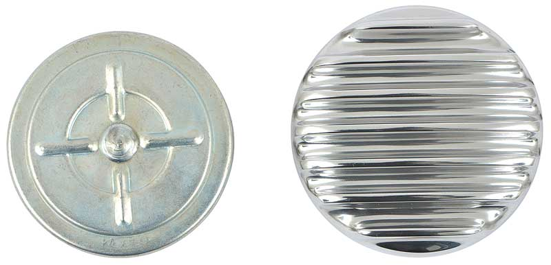 1958 Chevrolet Impala Parts | A9706305 | OTB Gear Non-Vented Gas Cap  w/Polished Finned Top - 1928-65 GM Models | Classic Industries