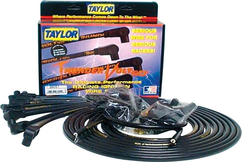 Universal 8 Cylinder 10.4MM Thunder Volt 50 Ignition Wire Set with 90° Plug Boots