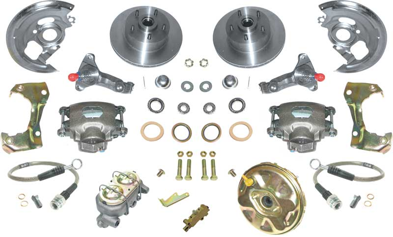 1967-69 F-Body; 1968-74 Nova Standard Front Power Disc Brake Conversion Set with Stock Spindels