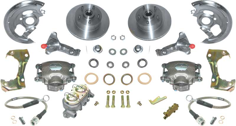1967-69 F-Body; 1968-74 Nova Standard Front Manual Disc Brake Conversion Set with Stock Spindels