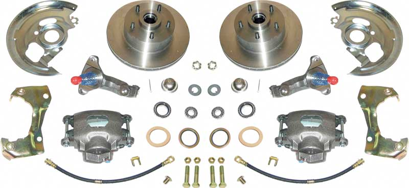 1967-74 Basic Front Disc Brake ConversionSet with Standard Spindles and 11 Plain Rotors