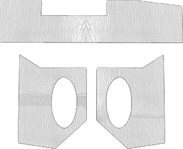 1962-67 Chevy II / Nova 2 Door acousti Shield Cowl And Dash Insulation Set