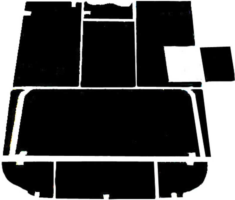 1947-53 Chevy / GMC Pickup acousti Shield Floor Insulation Set