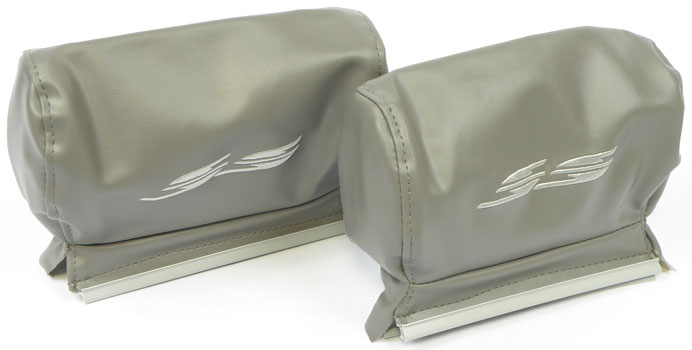 1994-96 Impala Super Sport Gray 10-1/2 Wide Headrest Covers
