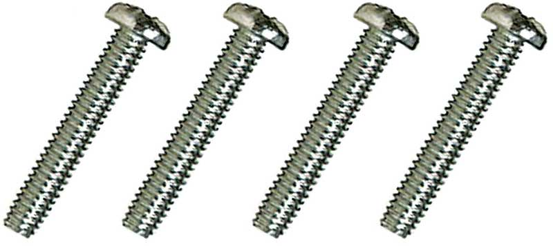 Chrome Plated Stainless Steel Standard Lens Screws, #8-32 x 1, 4 Piece Set