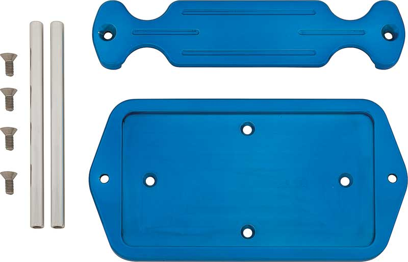 Blue Ball Milled Billet Strap Style Battery Box For Group 51 Series Optima Battery