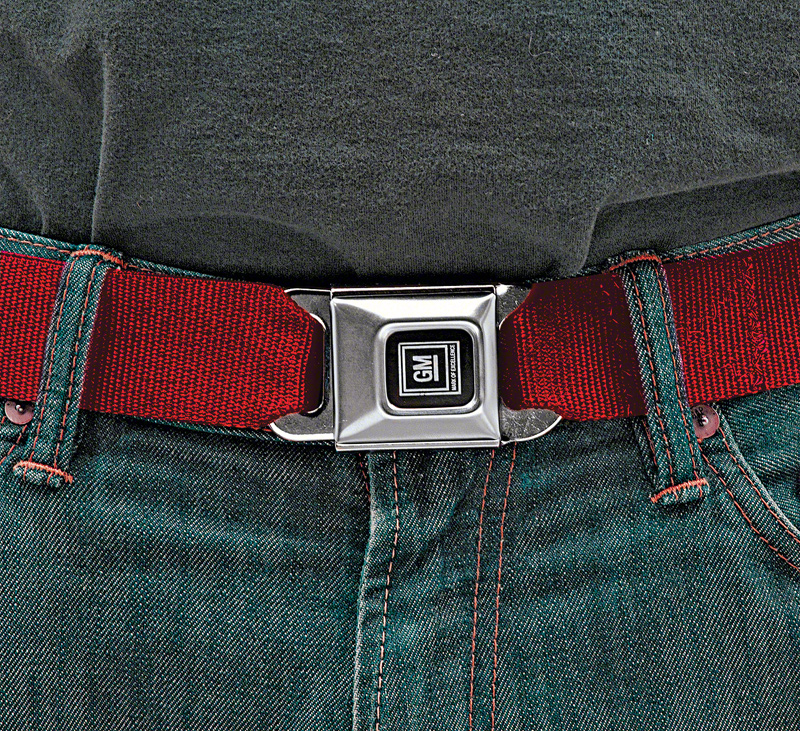 Seat Belt Trouser Belt GM Buckle (Red)