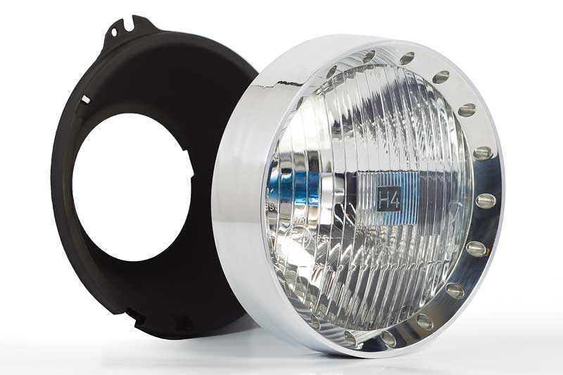 5-3/4 Headlight Rings for GM Vehicles with Delta H4 Quad Lighting - Polished