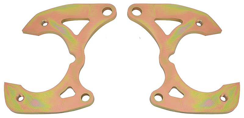 1955-58 Chevrolet Full Size Caliper Bracket Set for OE Spindles and Large GM Calipers
