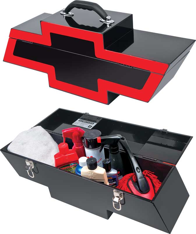 Black with Red Border Portable Bow Tie Tool Box