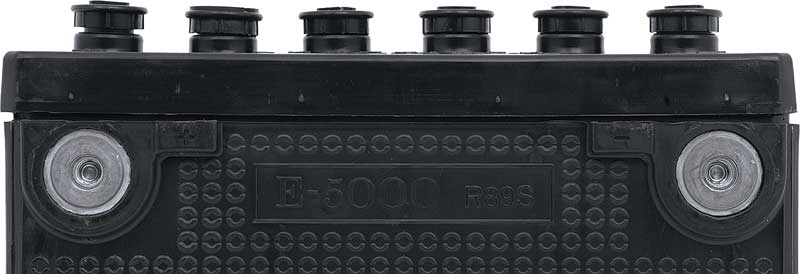 1971-76 Delco 780Cca 12V Side Terminal Maintenance Free Battery W/Delco-Eye - Black Caps W/ Logo