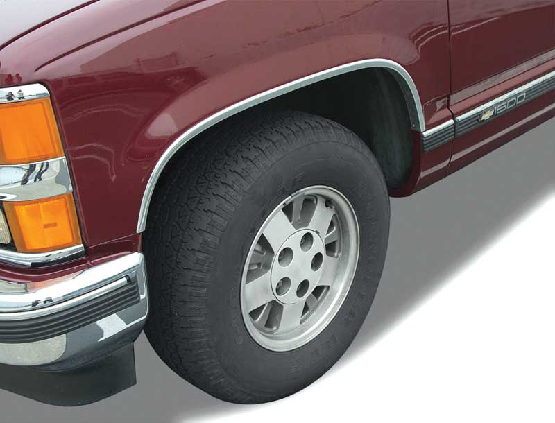 1988-00 Chevrolet Pickup Wheel Opening Molding - Chrome - LH Front
