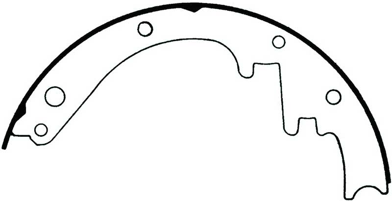 1955-70 Riveted Brake Shoes 11 X 2